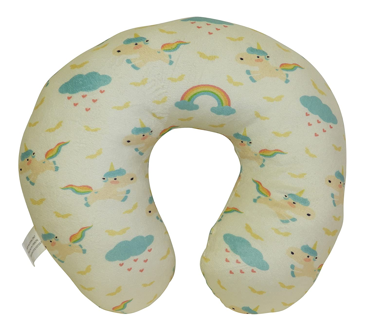 DINY Home & Style Unicorn Memory Foam Travel Neck Pillow Medium For Kids Teens and Petites (Yellow) Dependable Industries inc