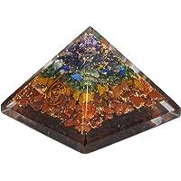 Sale! Real Gemstone 7 Chakra Orgone Original Pyramid Healing Crystal Gemstone Radiation Deflection Metaphysical Stone Figurine (Chakra Original Pyramid 25-30mm)