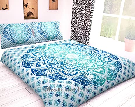 zari natural squares product mango duvet indian bed covers cover