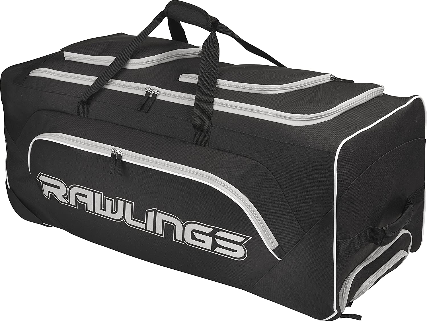 Amazoncom Rawlings Yadi Wheeled Catchers Bag Black Sports