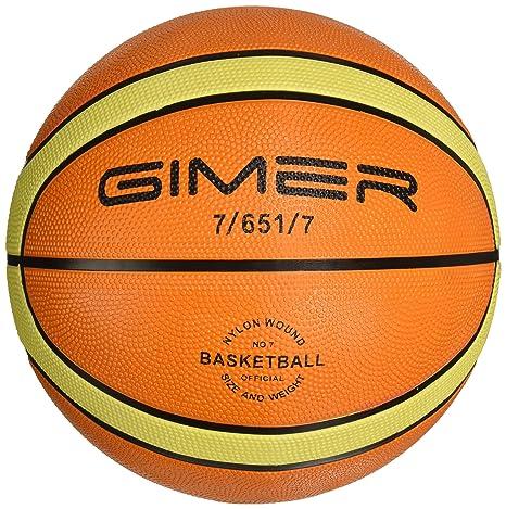 GIMER 7/651/7, balón Baloncesto Goma Unisex-Adulto, Unisex ...