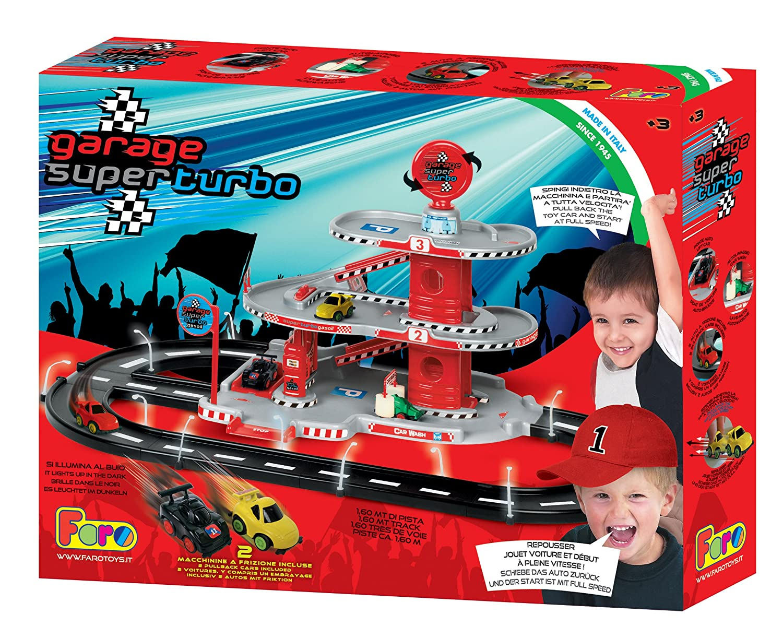 La Nuova Faro - 703turbo - Garaje con 3 Plantas y 2 Coches Turbo - 52 x 79 x 35 cm: Amazon.es: Juguetes y juegos