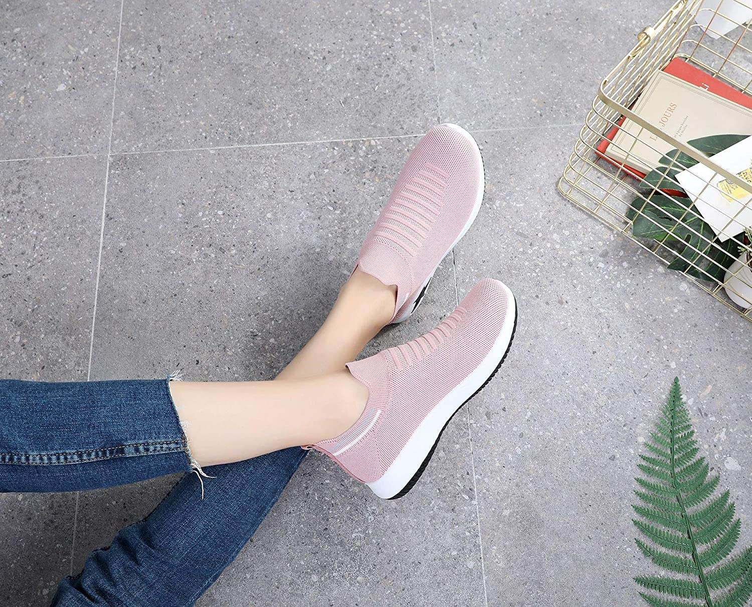 lizunlizun Spring and Summer New Womens Shoes Breathable Stretch Socks Shoes Womens Wild Lightweight Flying Woven Womens Shoes Casual Sports Shoes Womens Multicolor