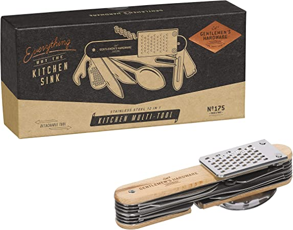 N//A Silver Gentlemans Hardware Outil Multifonction pour Messieurs