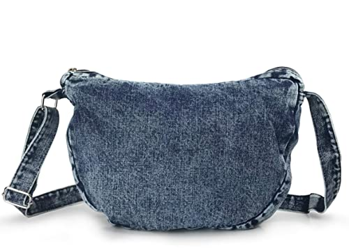 Amazon.com  Denim Indigo Hobo Cross Body Bag Womens Shoulder Bag (Indigo)   Shoes 9e9a60efac7d9