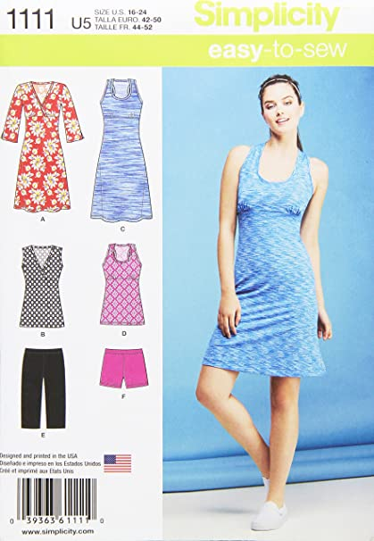 Amazon Simplicity Patterns 40 Misses' Easy Knit Sport Dresses Cool Simplicity Patterns