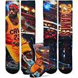 389170886a38 Cleveland Cavaliers Starting Lineup Socks 1 Pair Men s Medium 5-10 - Lebron  James