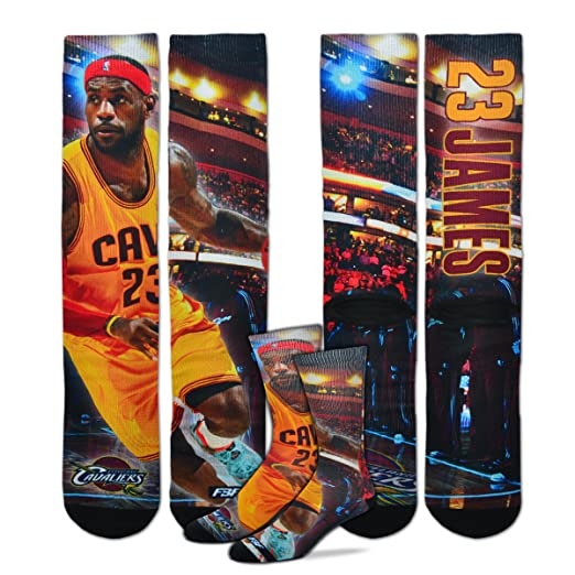 21aa5825bd12 Image Unavailable. Image not available for. Color  Cleveland Cavaliers  Starting Lineup Socks 1 Pair Men s ...