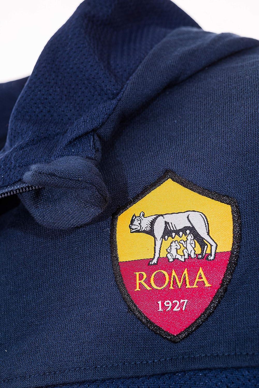AS Roma Felpa con Cappuccio E Tasca Frontale Felpa con Cappuccio ...