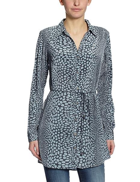 Vero Moda Moda - Blusa con volantes para mujer, color azul (ombre blue)