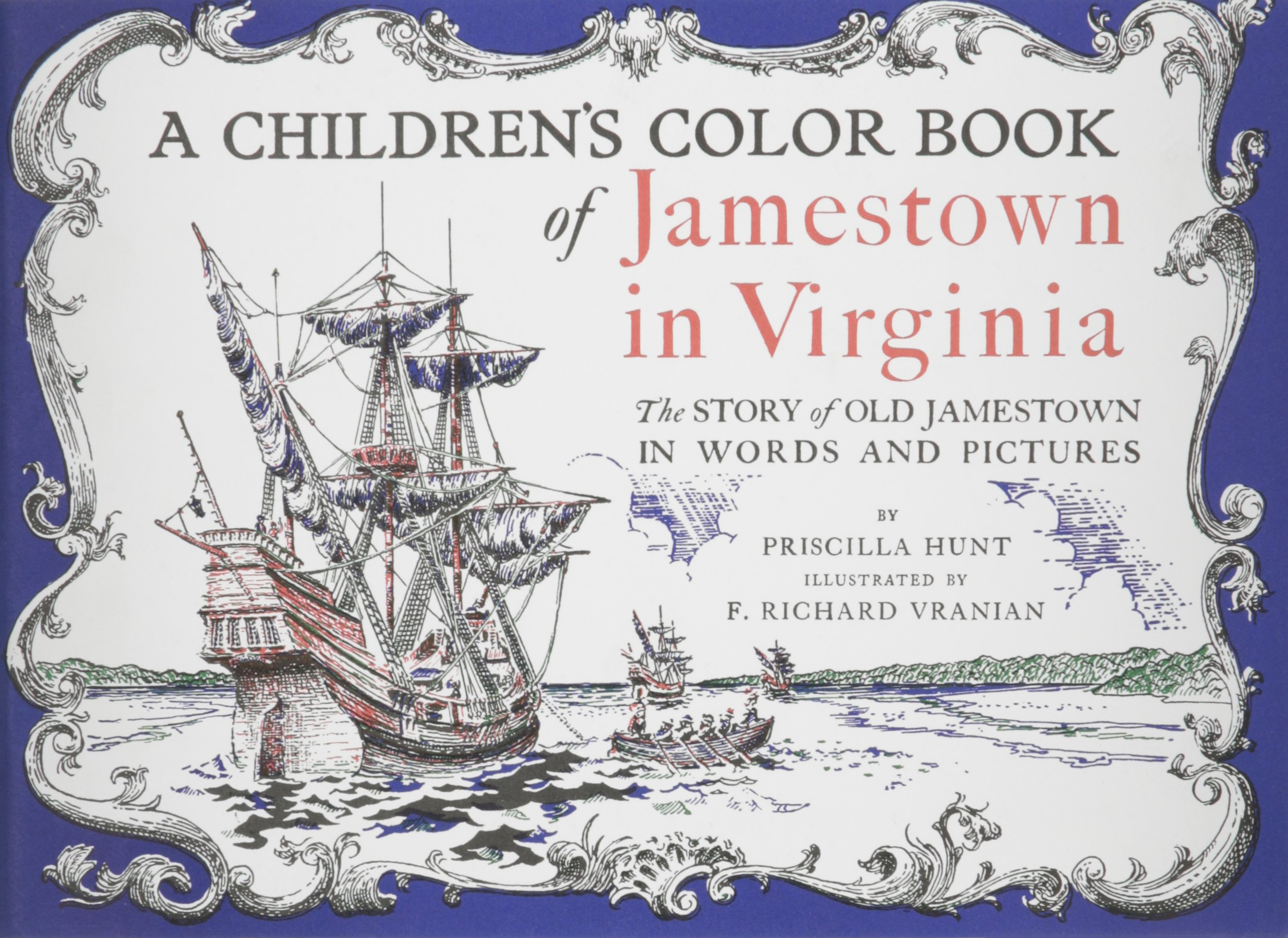 a children u0027s color book of jamestown in virginia priscilla hunt