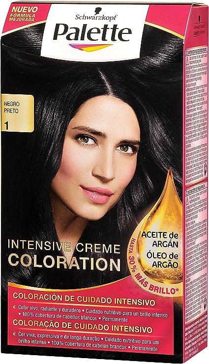 Palette Intense Cream Coloration Intensive Coloración del Cabello 1 Negro - Pack de 3