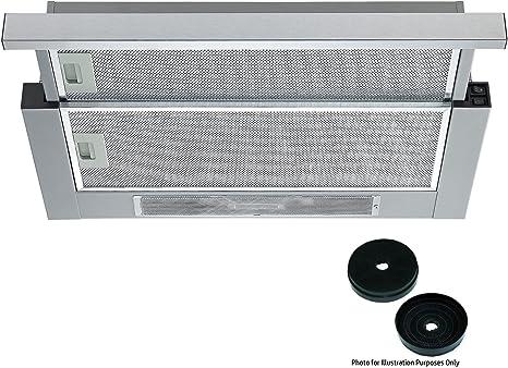 Campana extractora telescópica integrada TEL600SS de Cookology, con ventilador incorporado de 60 cm, de acero inoxidable y filtros de carbón: Amazon.es: Grandes electrodomésticos