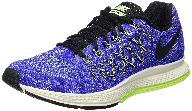 Nike Air Zoom Pegasus 32, Zapatillas de Running para Hombre 45 EU Azul / Negro / Verde (Racer Blue / Black-volt-brly Vlt)