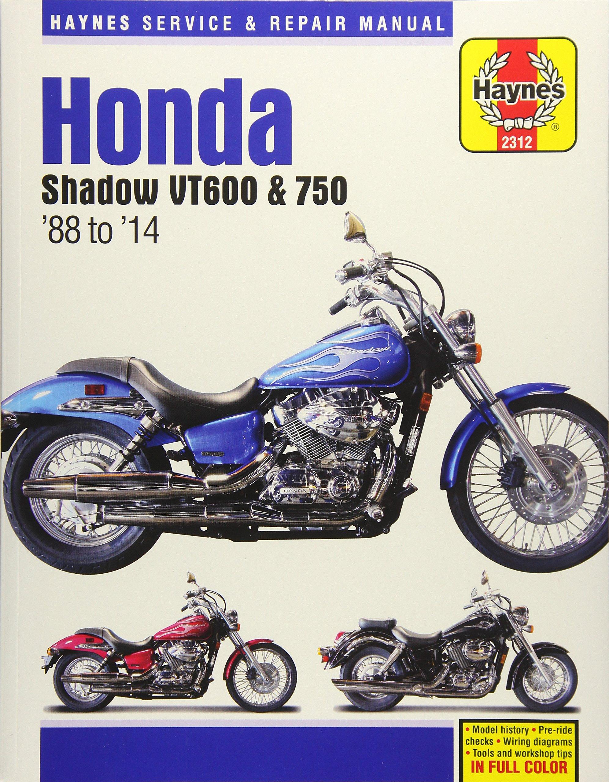 Honda Shadow VT600 & 750 '88 to '14 (Haynes Service & Repair Manual):  Editors of Haynes Manuals: 9781620922224: Amazon.com: Books