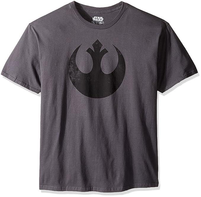 1b9bc0d65805a Star Wars Men's Rebel Alliance Logo Emblem T-Shirt