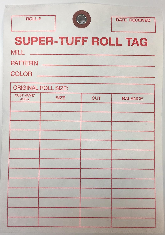 Amazon com : TTUFF1 Super-Tuff Carpet Roll Inventory Tags