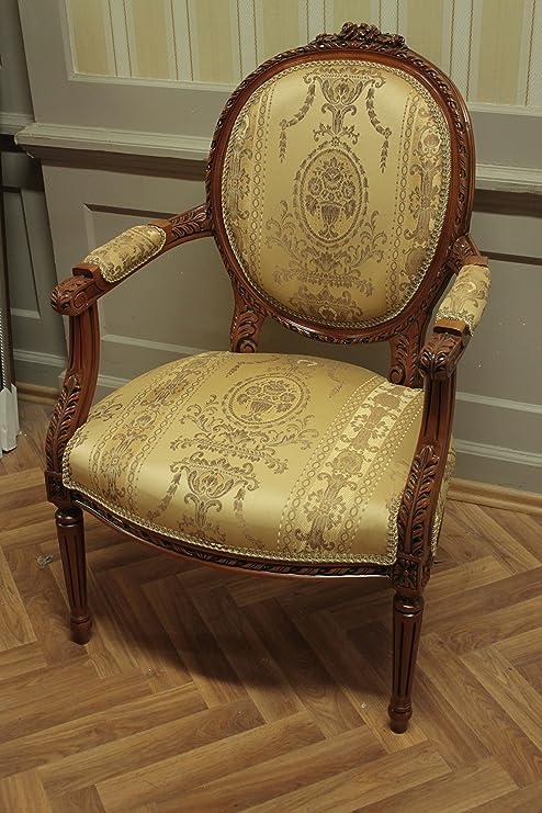 LouisXV Barroco silla de estilo antiguo AlCh0010AHzBg rococó ...