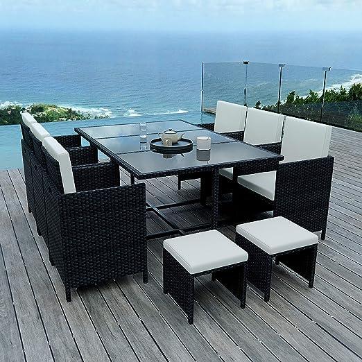 IMS GARDEN 10 Places-Ensemble encastrable salón/Mesa de jardín ...