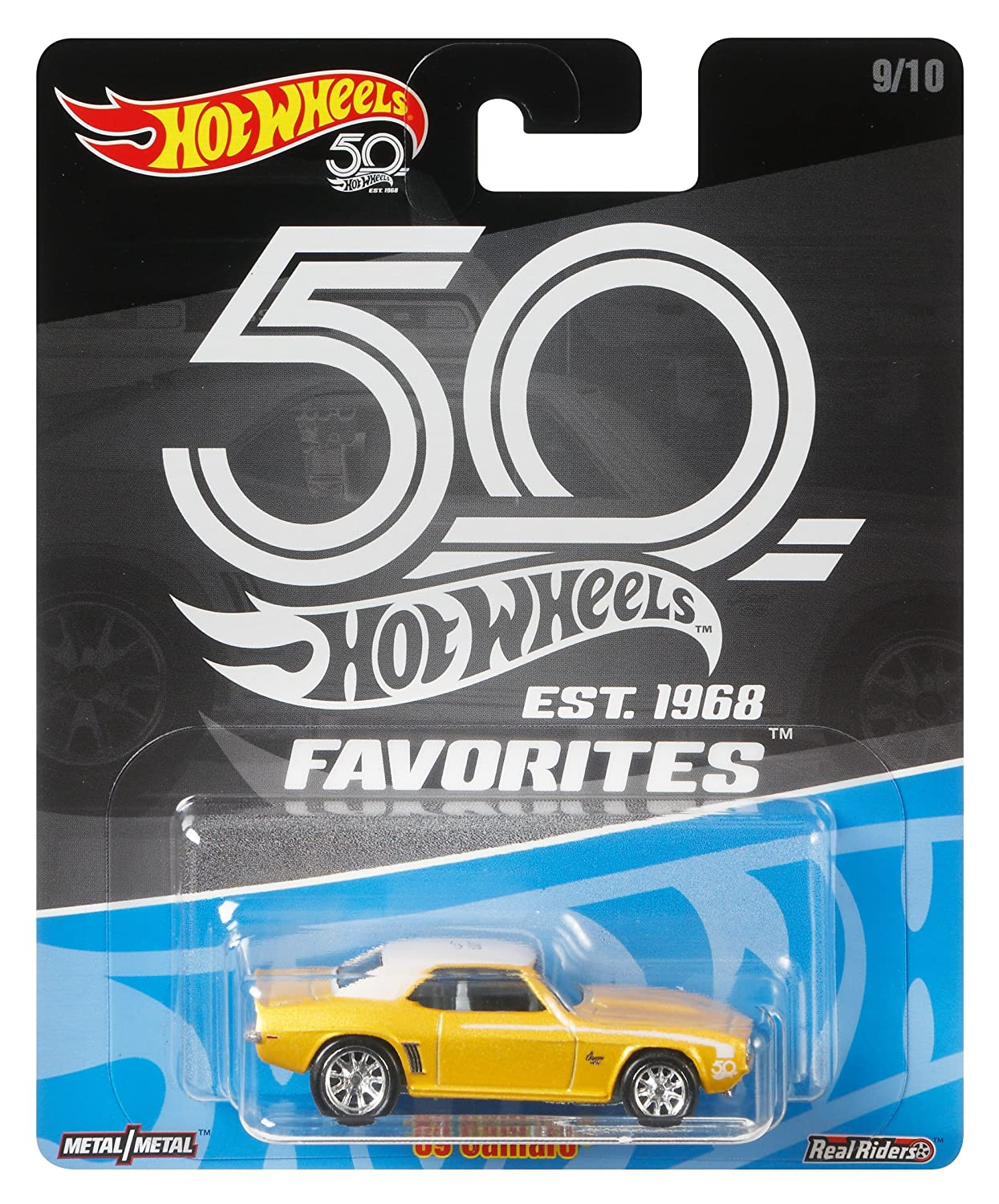 Hot Wheels 50th Anniversary Favs 69 Camaro Mattel FLF44