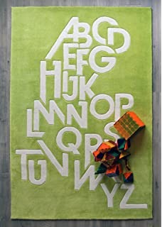 HAND TUFTED Bright Chartreuse Green Area Rug, 4u0027 X 6u0027   Modern