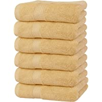 Utopia Towels Premium Beige Hand Towels - 100% Combed Ring Spun Cotton, Ultra Soft and Highly Absorbent, 600 GSM Exrta…
