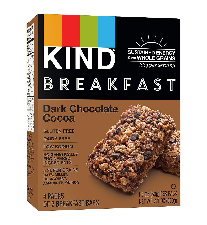 KIND Breakfast Bars, Dark Chocolate Cocoa, Gluten Free, 1.8 Ounce ...