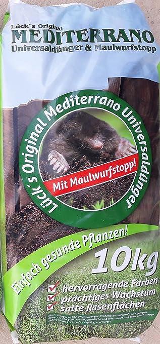 Lücks Mediterrano Universal Rasen Profi Dünger Maulwurf Stopp 10kg