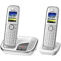 Panasonic KX-TGJ322GW Familien-Telefon mit Anrufbeantworter, zusätzliches Mobilteil, Weiß