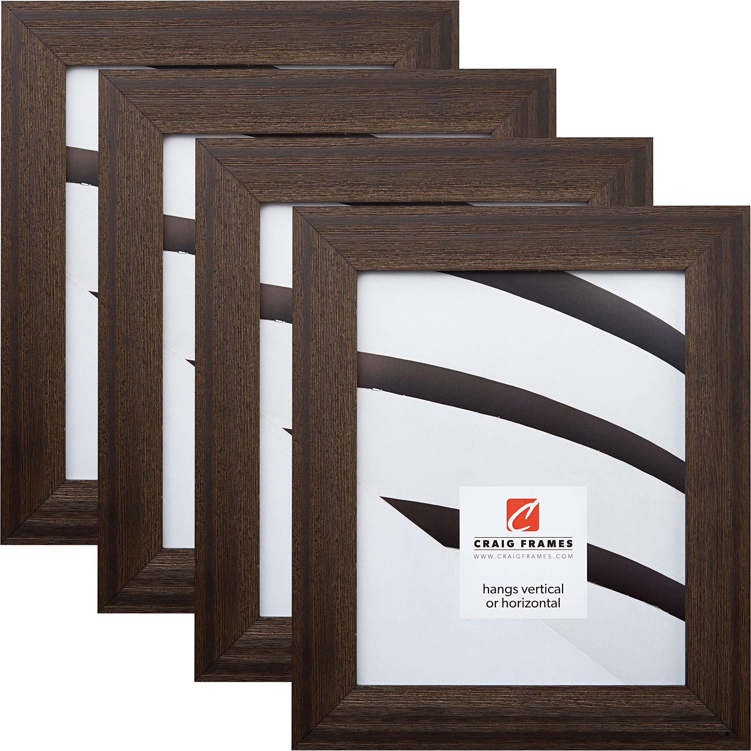 Craig Frames 15DRIFTWOODBK 8 x 10 Inch Picture Frame, Black, Set of 4