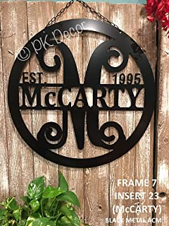 amazon com mrc wood products outdoor metal personalized family
