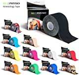 KG | PHYSIO Kinesiology Tape - Uncut Muscle Support Tape - 5cm x 5m roll - 12 colours of premium quality kinesio available for sports injury
