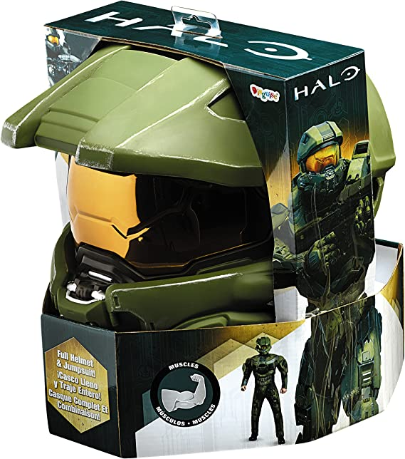 Disguise Mens Halo Deluxe Muscle Master Chief Adult Costume