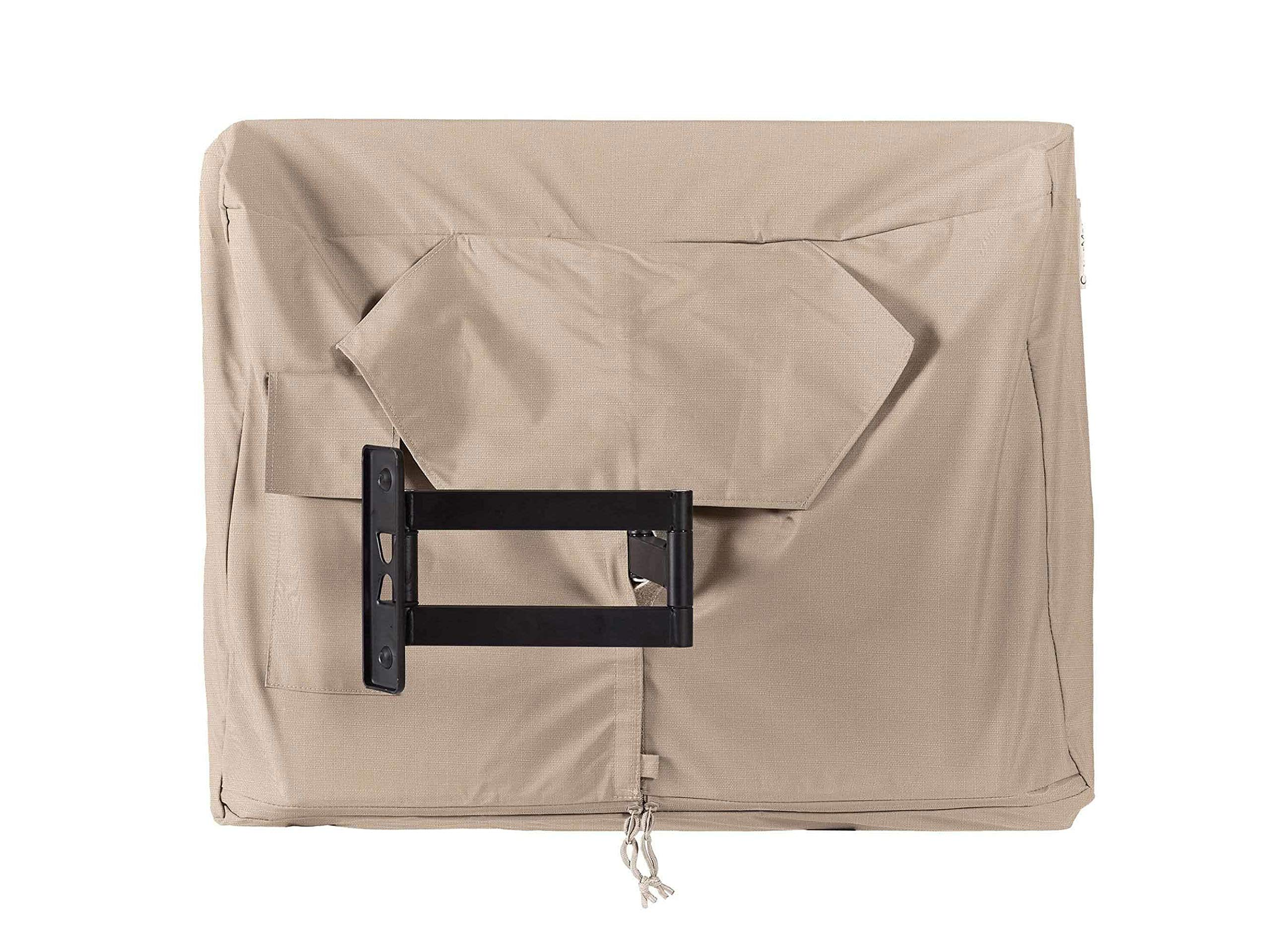 Covermates - Outdoor TV Cover - Fits 50 to 54 Inch TV's - Ultima - 600 Denier Fade Resistant Polyester - Full Coverage - Interior Fleece Lining - 7 YR Warranty - Water Resistant - Ripstop Tan by Covermates