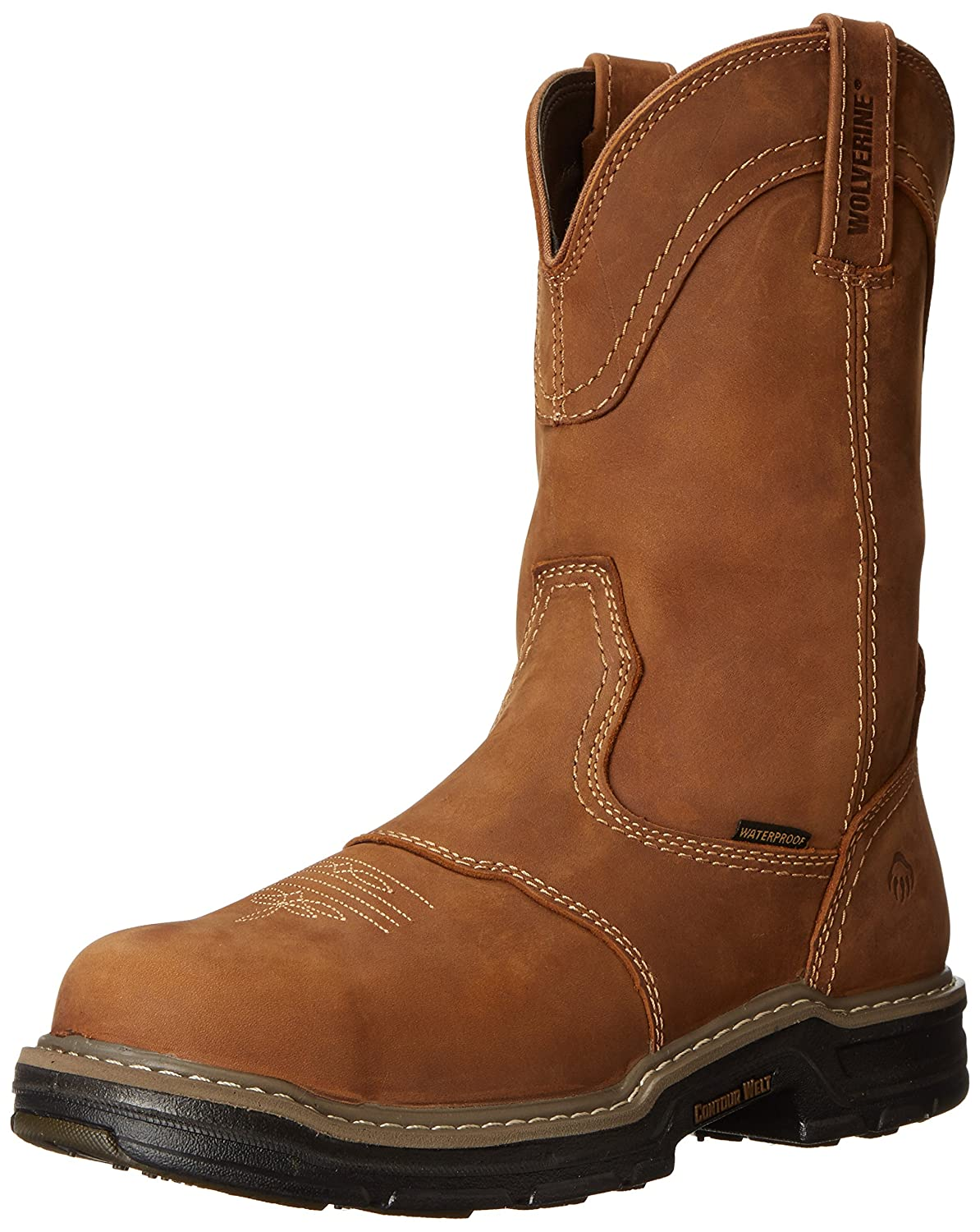 182c3a9324d Wolverine Men's Anthem Western Wellington Steel-Toe Work Boot