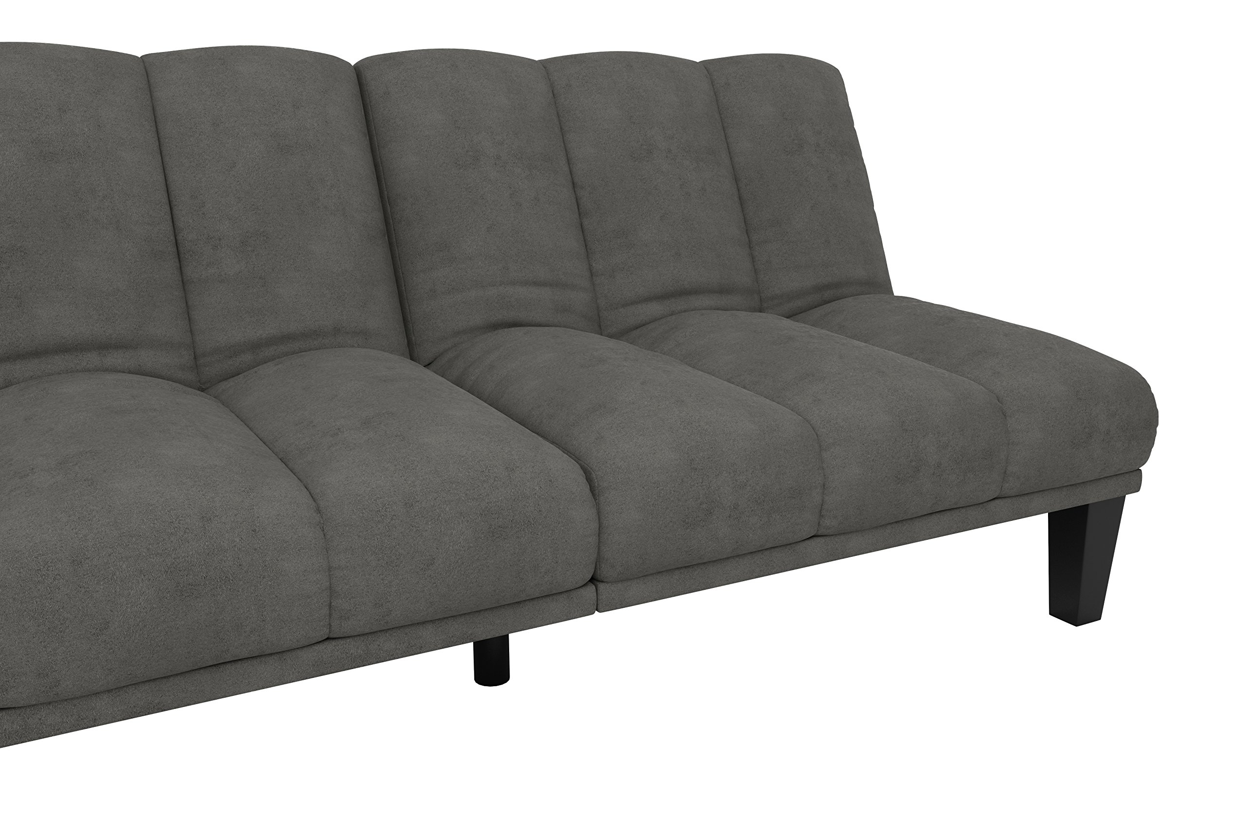 DHP Hamilton Estate Premium Sofa Futon Sleeper Comfortable Plush Upholstery, Rich Gray by DHP (Image #9)