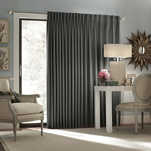amazon com eclipse thermal blackout patio door curtain panel 100 inch x 84 inch charcoal home kitchen eclipse thermal blackout patio door curtain panel 100 inch x 84 inch charcoal