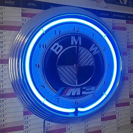Neon Montre Bmw M3 Design Carbone Bleu Fluo Atelier Horloge