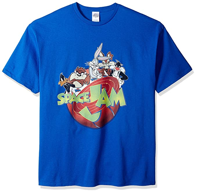 3fb74b1e9def9f Amazon.com  Warner Brothers Men s Team Looney Tunes Space Jam T ...