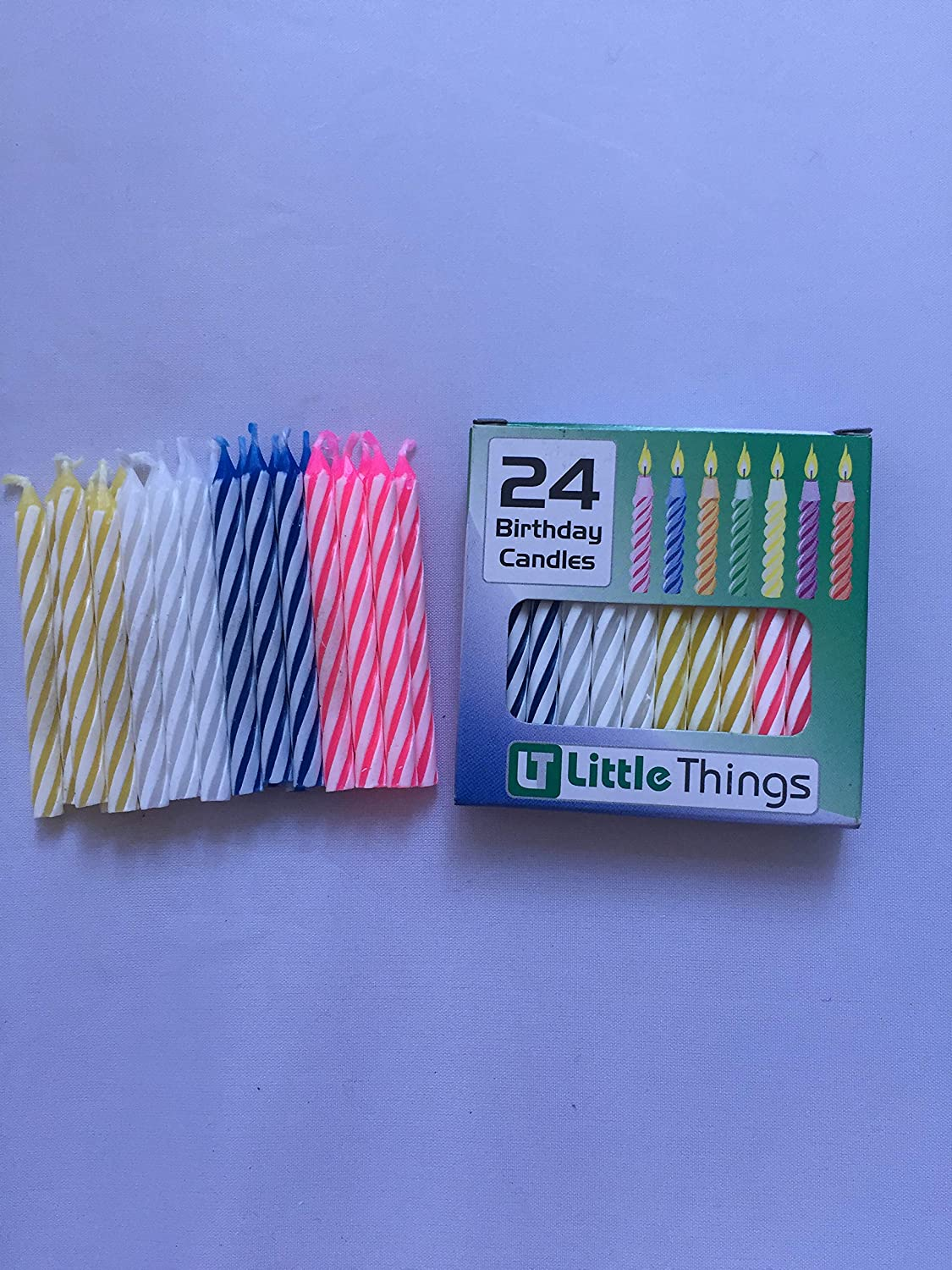 Adoria Birthday Candle Bulk 24 Boxes Of 576 Candles Otal Dia02x24inch Spiral Multi Color