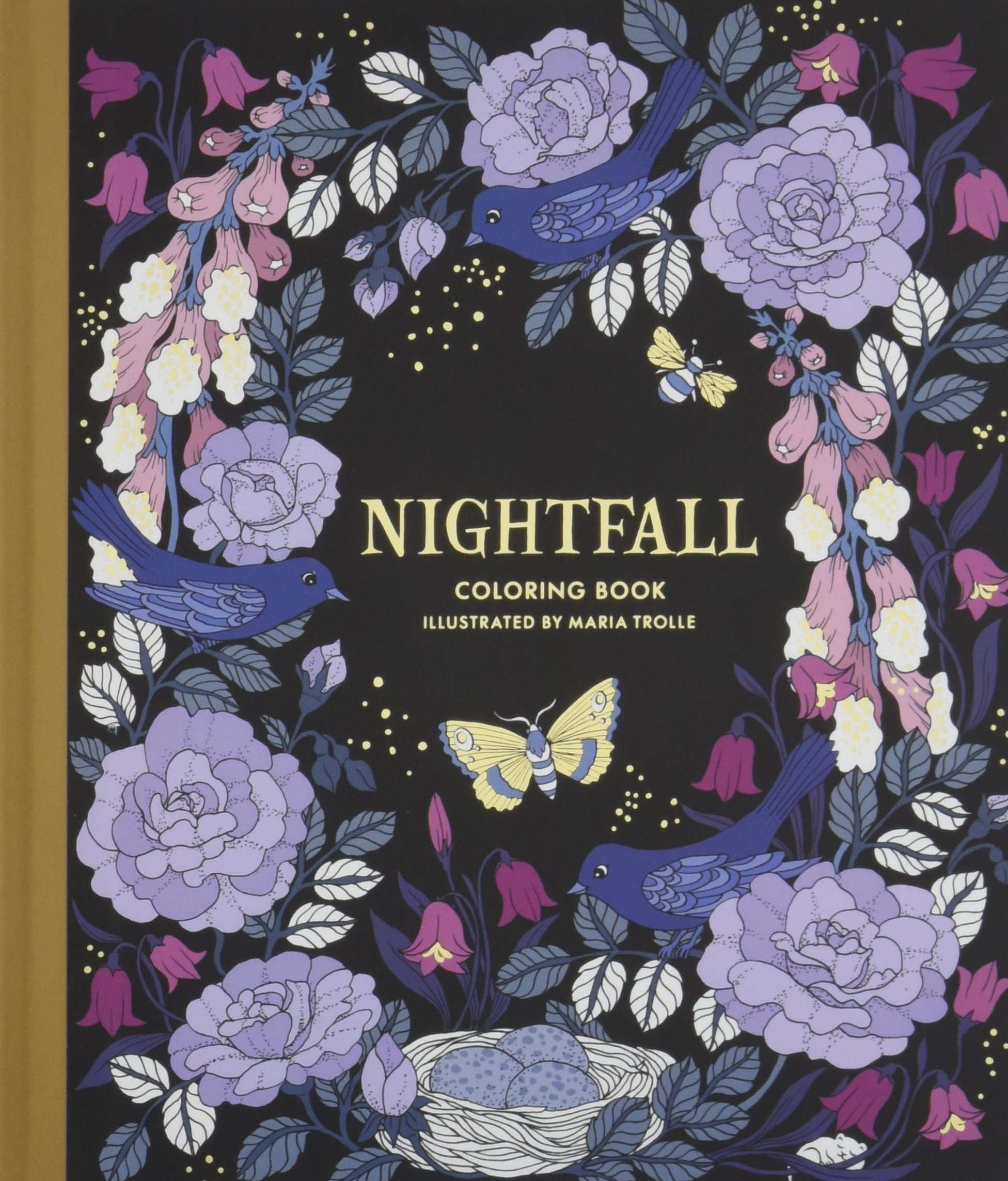Nightfall Coloring Book Originally Published In Sweden As Skymningstimman Maria Trolle 9781423649168 Amazon Books