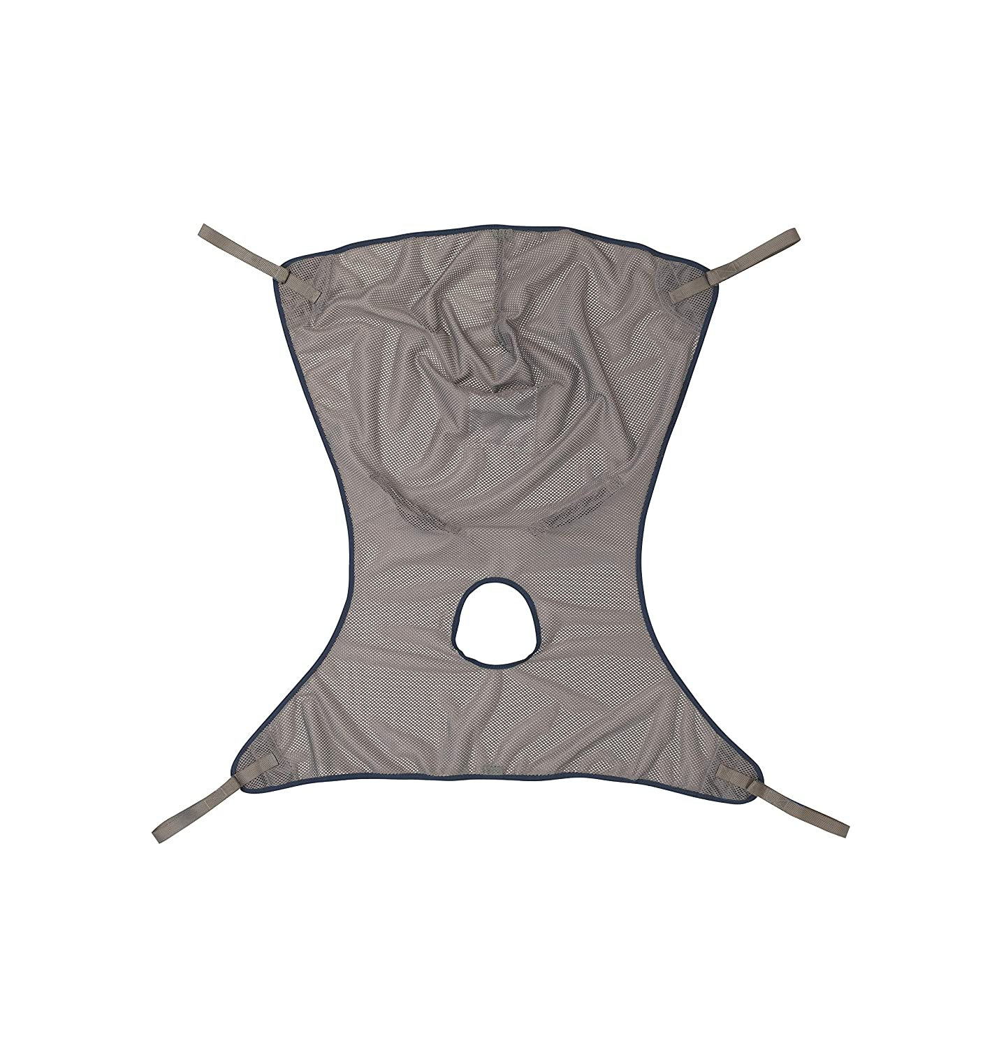 Invacare Premier Comfort Full Body Sling with Commode Opening for Patient Lifts, 500 lb. Weight Capacity, Net Fabric, Small, 2451097