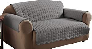 Innovative Textile Solutions Microfiber Furniture Protector Loveseat, Grey
