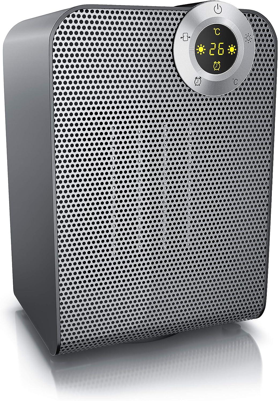 2 puissances Contr/ôle de la temp/érature de 10/° /à 35/° Chauffage soufflant en c/éramique 1800 watts Fonction ventilateur Thermostat num/érique Minuterie de 1-8 heures Oscillaton Brandson