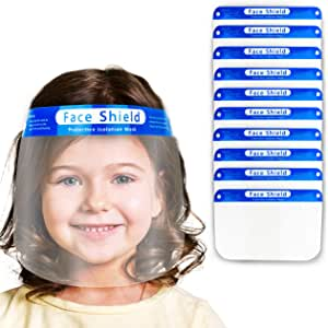 Pack Of 2 Kids Face Shield With Glasses Visor Protection Cover Unisex Pony