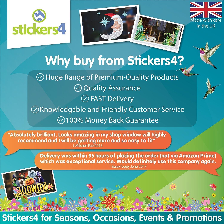 Jolis /œufs de P/âques artistiques Statiques pour d/écoration de fen/être Autocollants de saison par Stickers4 Set of 8