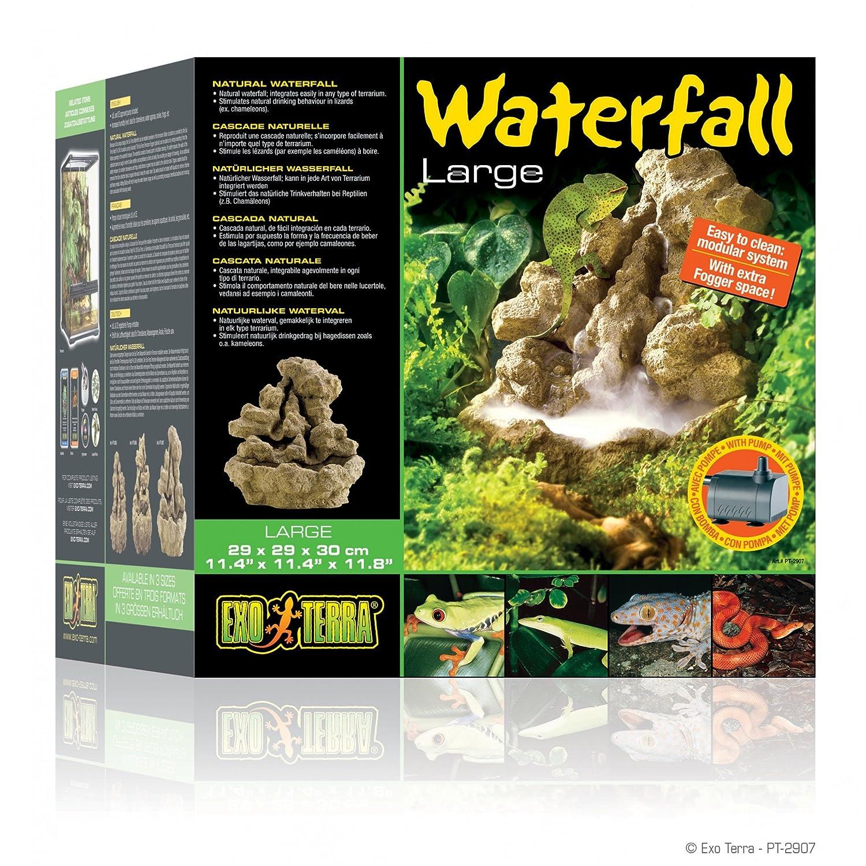 Amazon.com : Exo Terra Natural Waterfall With Pump   Large : Aquarium Water  Pumps : Pet Supplies