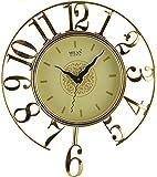 Milan Pendulum Decorative Wall Clock (31 cm x 5 cm x 31 cm, Gold)