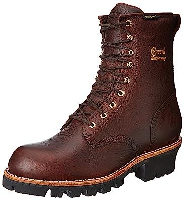 Chippewa Menu0027s 8 Inch Briar Insulated Waterproof Logger Rugged Boot,Brown,6  ...