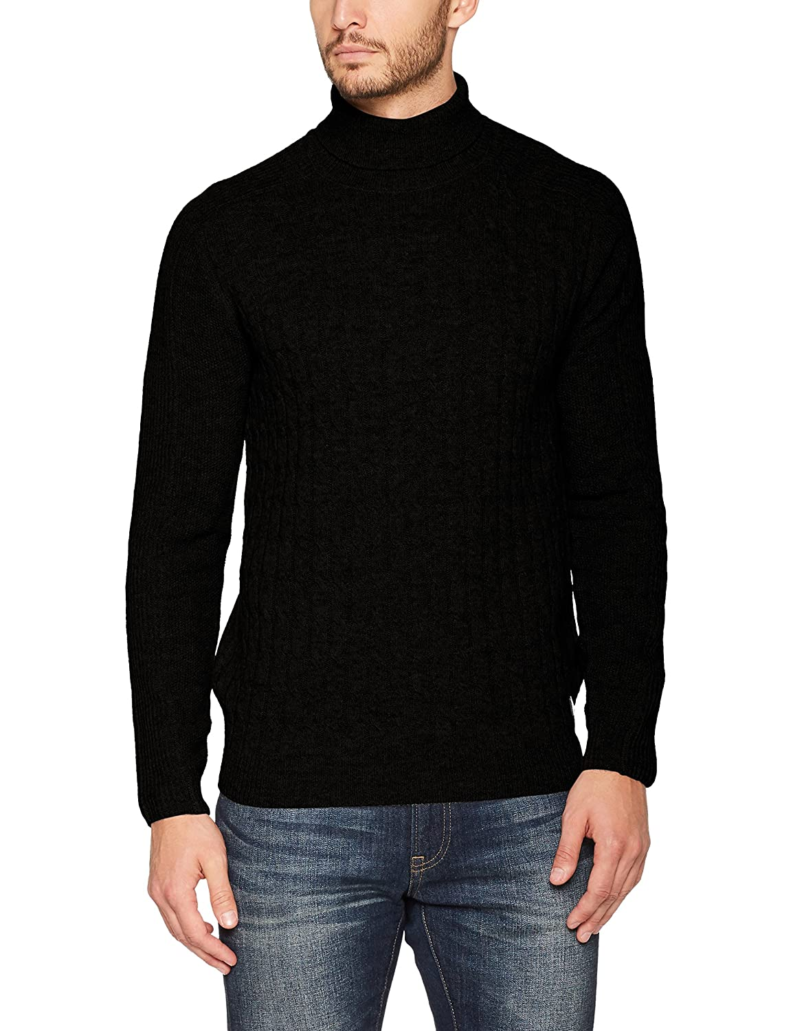 Wrangler Men's Cable Rollneck Sweater W8598RA